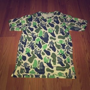 ADIDAS x NERD Green Camo T-Shirt Medium DH1176